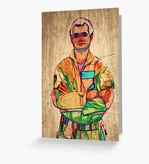 Peter Venkman (timber) Greeting Card