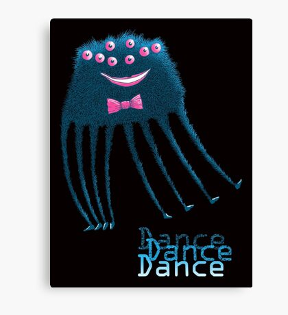 Techno Dance Disco Spider Canvas Print