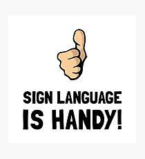 Sign Language Photographic Print