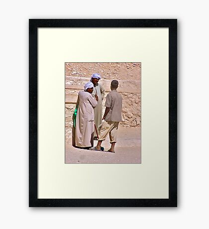 A Heated Discussion Framed Print