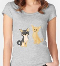 Cheeky Chihuahua Women's Fitted Scoop T-Shirt