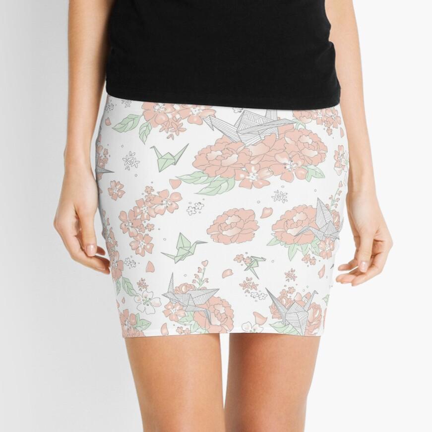 Origami Floral Mini Skirt