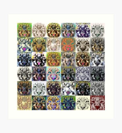 Artificial neural style wild cat Art Print