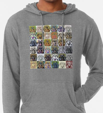 Artificial neural style wild cat Lightweight Hoodie