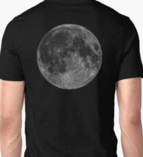 Lunar, MOON, Lunatic, Cosmos, Cosmic, Space, Near side of the Moon. T-Shirt