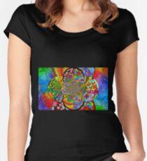 Zentangle Fractal Women's Fitted Scoop T-Shirt