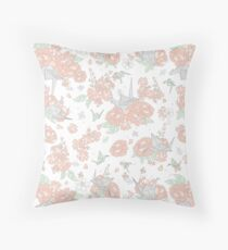Origami Floral Throw Pillow