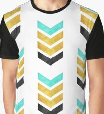 green gold and black chevron Graphic T-Shirt
