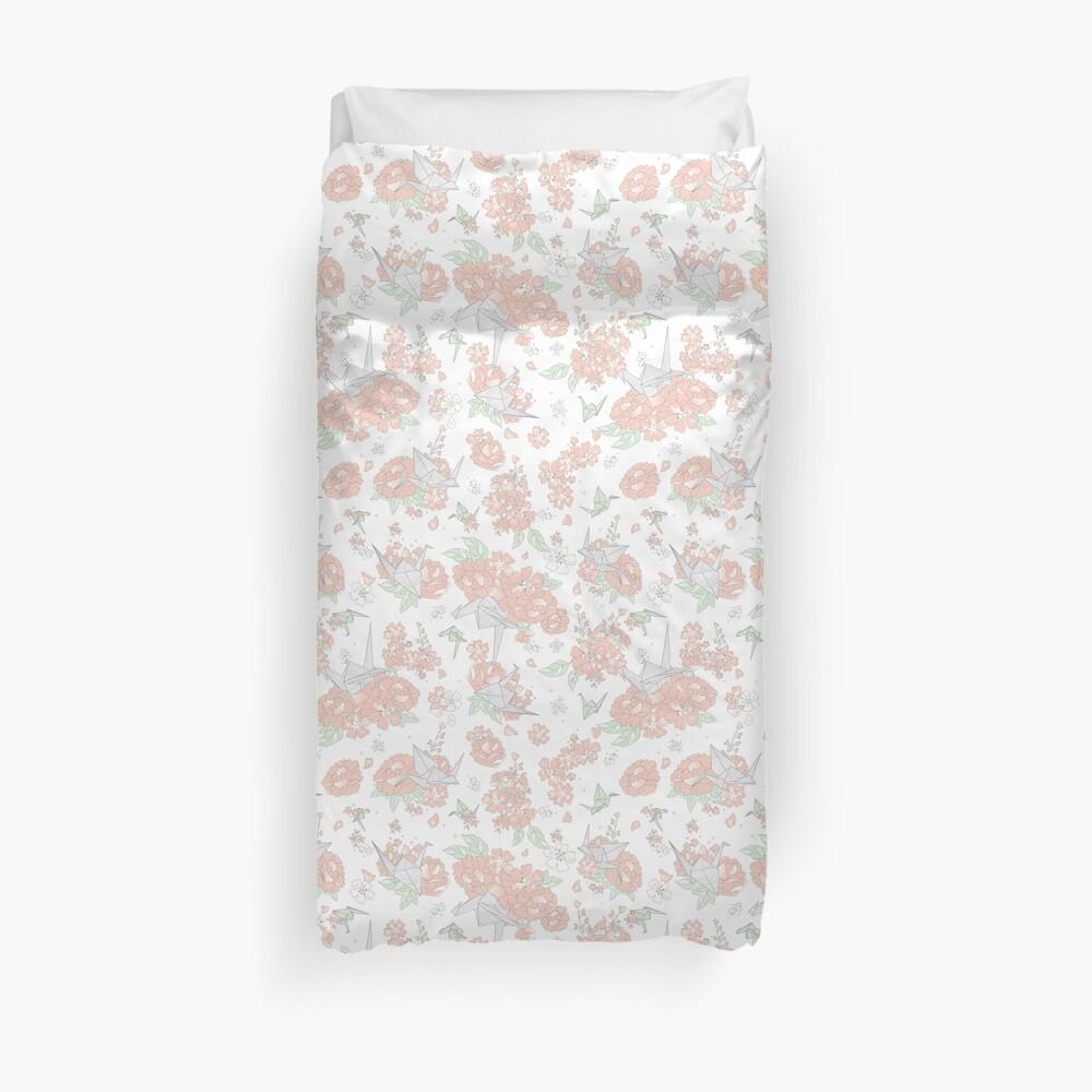 Origami Floral Duvet Cover