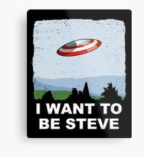 I Want To Be Steve Metal Print
