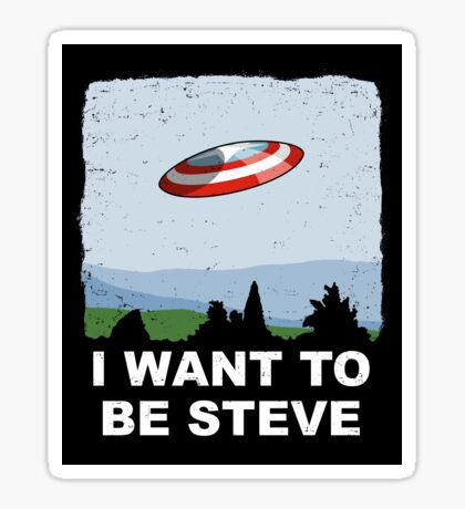 I Want To Be Steve Sticker