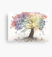 Watercolour tree Canvas Print