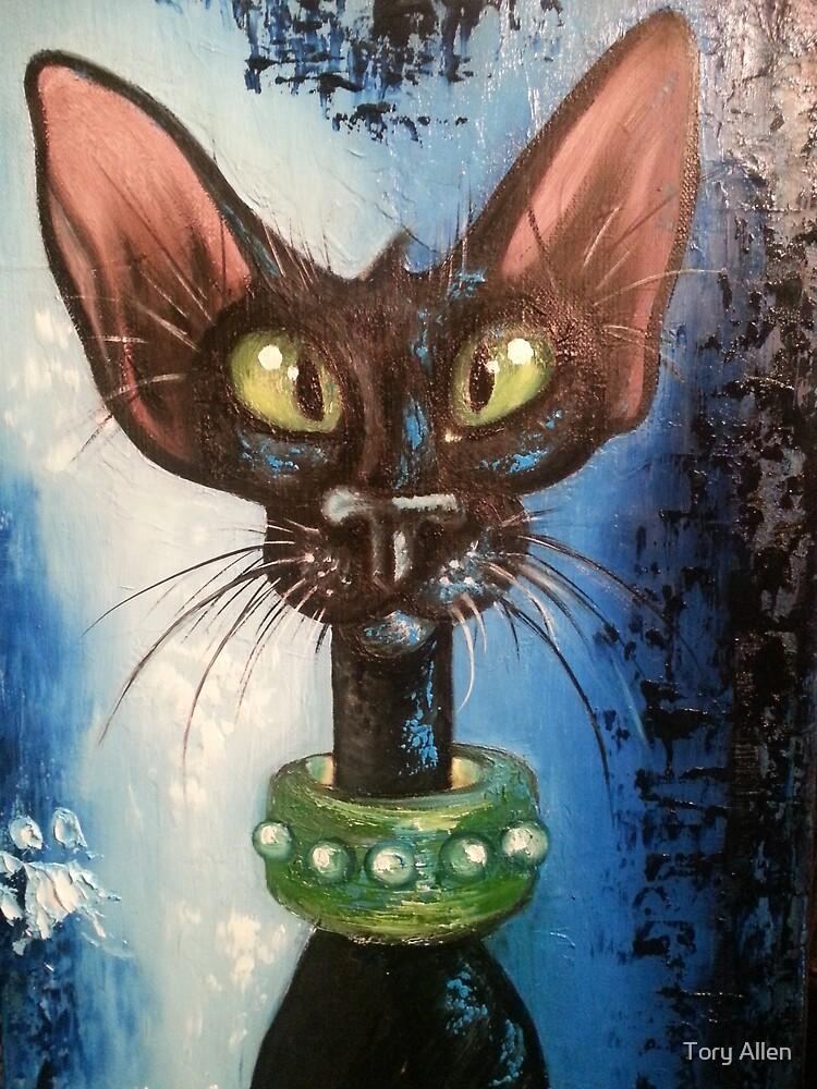 Black siamese cat by Tory Allen