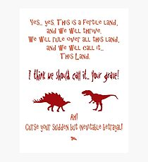 curse your sudden but inevitable betrayal, firefly, red Photographic Print