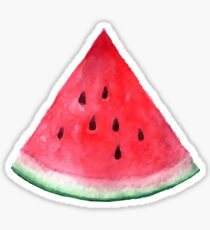 Juicy watermelon. Watercolor Tropical Fruit Sticker