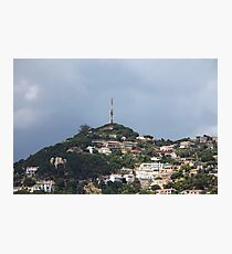 Small quiet town on the hillside Photographic Print