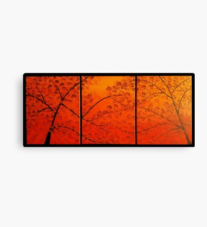 FALL TREES TRIPTYCH Canvas Print