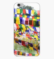 Flags at Bodh Gaya Mahabodhi Temple iPhone Case