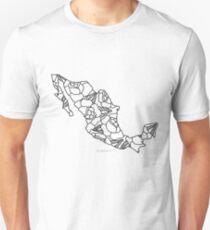 Mexico Map Black Outline Unisex T-Shirt