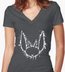 Ori And The Blind Forest, Ori stencil Women's Fitted V-Neck T-Shirt