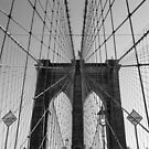 Top of Brooklyn Bridge by Geoffrey Fighiera