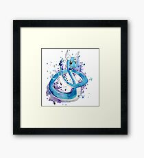 Pokemon Watercolor - Dragonair #148 Framed Print