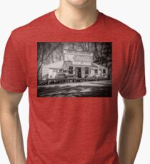 Rabbit Hash Store-Front View B&W Tri-blend T-Shirt