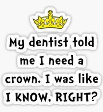 Dentist Crown Sticker