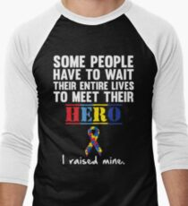 Autism Hero Men's Baseball ¾ T-Shirt