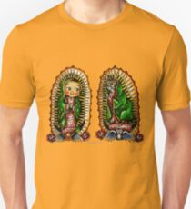 Kewpie and Cat Guadalupanos. Unisex T-Shirt
