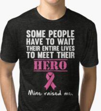 Breast Cancer Hero Tri-blend T-Shirt