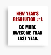 New Years Resolution Canvas Print