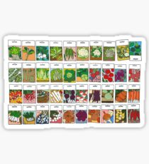 Vegetable seeds pattern Sticker