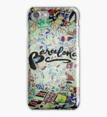 Barcelona Gaudi Work Modernism Park Güell Photography and Calligraphy iPhone Case/Skin