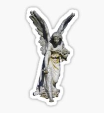 Angel Giving Flowers Sticker Sticker