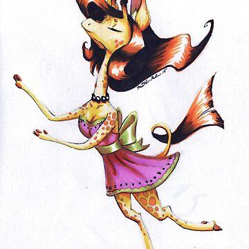 Fancy Giraffe by TheDragonLady23
