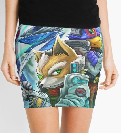 Space Animals Mini Skirt