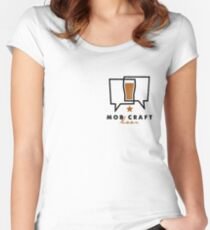 MobCraft Logo - Light Women's Fitted Scoop T-Shirt