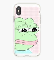 aesthetic pepe iPhone Case