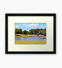 Golf Course Beauty Framed Print