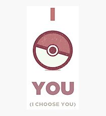 Pokemon - I Choose You Photographic Print