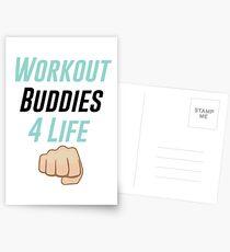 Workout Buddies 4 Life Postcards