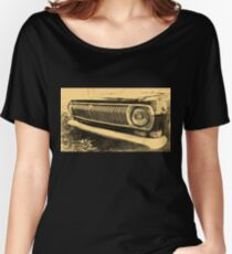 Vintage Old Classic Car Headlight Women's Relaxed Fit T-Shirt
