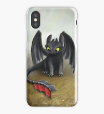 Toothless Dragon inspired from How To train Your Dragon. iPhone Case
