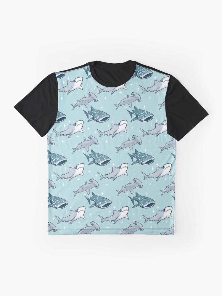 Alternate view of Shark Pattern Graphic T-Shirt