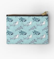 Shark Pattern Zipper Pouch