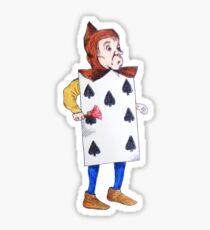 The 7 of Spades  Sticker