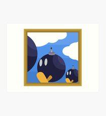 Bob-Bomb Battlefield, A Super Mario 64 Painting Art Print