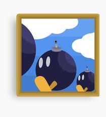 Bob-Bomb Battlefield, A Super Mario 64 Painting Canvas Print