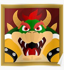 Bowser, A Super Mario 64 Painting Poster